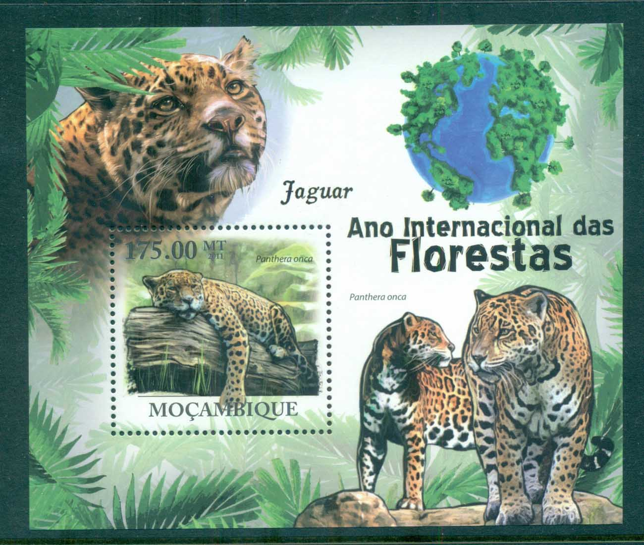 Mozambique 2011 Wildlife, Big Cats, Jaguar MS MUH MOZ11116b