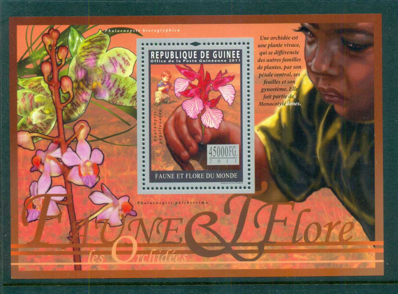 Guinee 2011 Flora, Flower, Plant,Orchid, MS MUH GU020