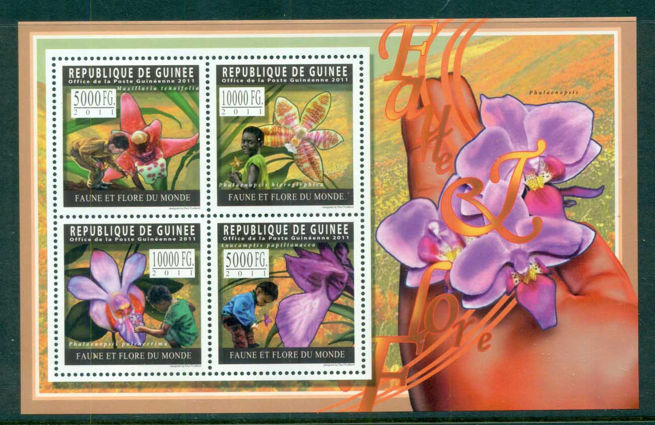 Guinee 2011 Flora, Flower, Plant,Orchid, MS MUH GU019