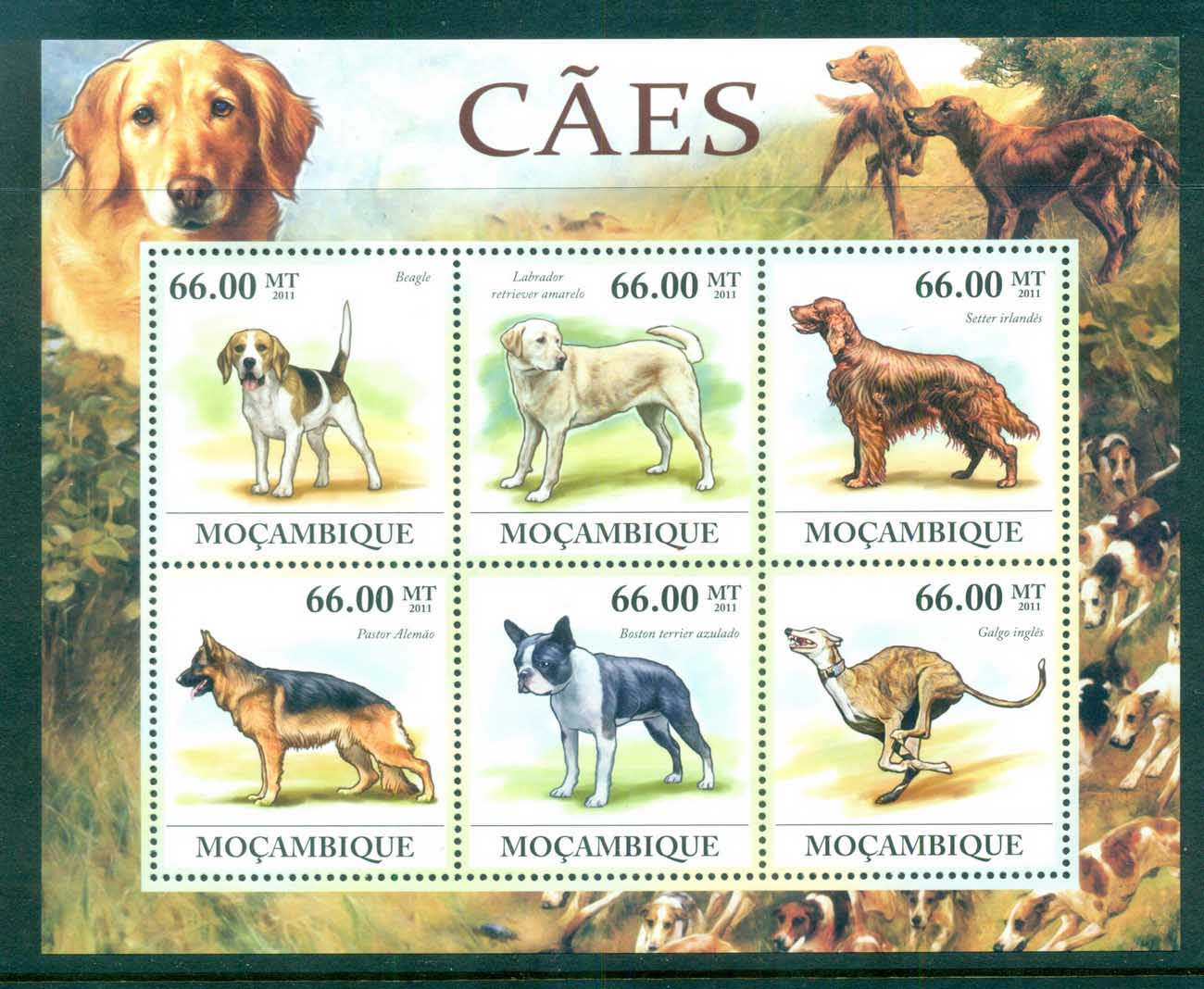 Mozambique 2011 Animals, Domestic, Dogs MS MUH MOZ11612a
