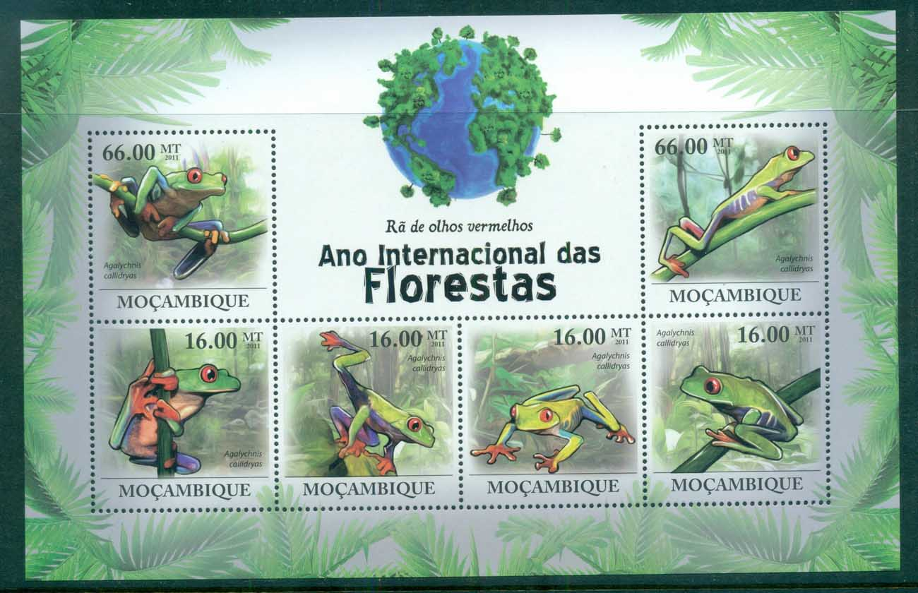 Mozambique 2011 Reptiles, Frogs MS MUH MOZ11125a