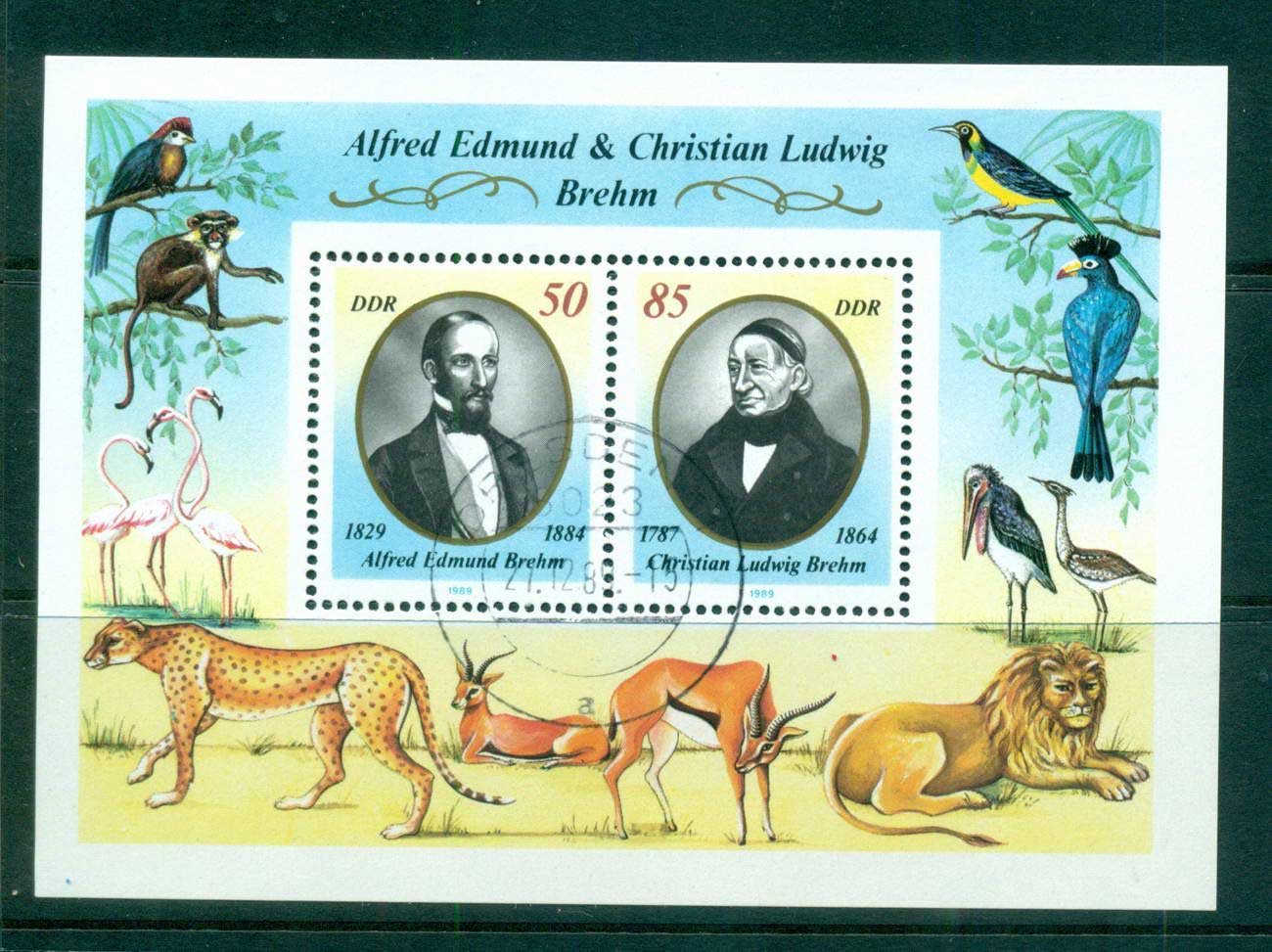 Germany DDR 1989 Zoologists CTO lot58194