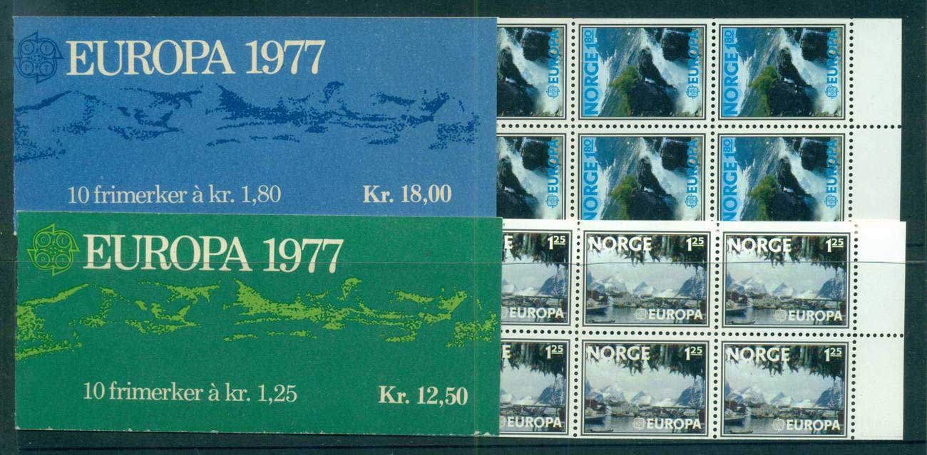 Norway 1977 Europa 2x Booklets MUH lot58681