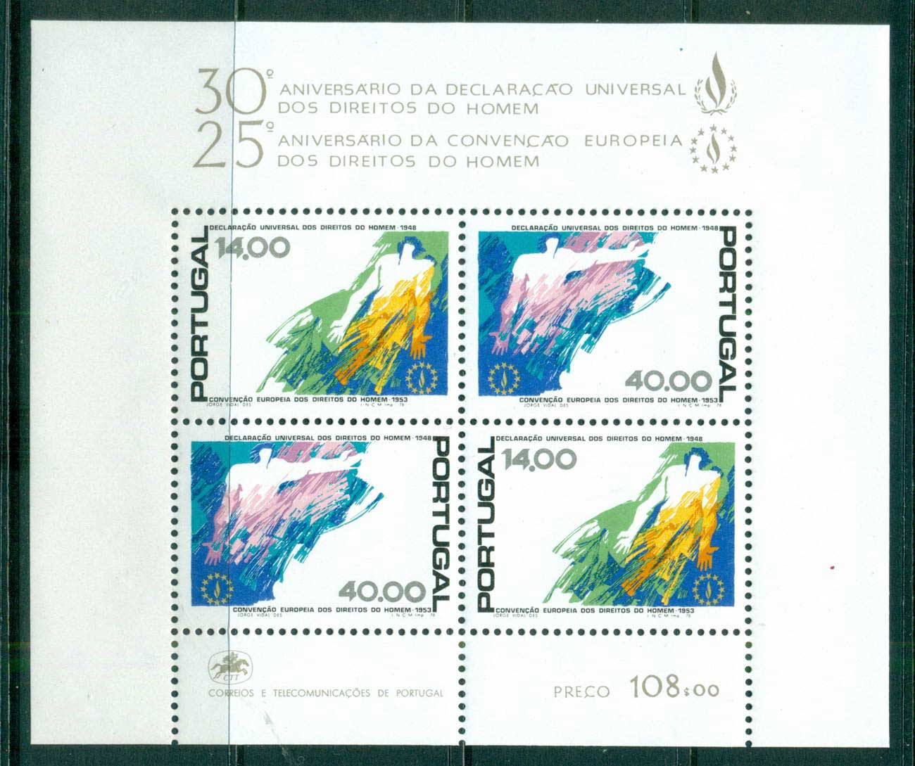 Portugal 1978 Human Rights MS MUH lot58711