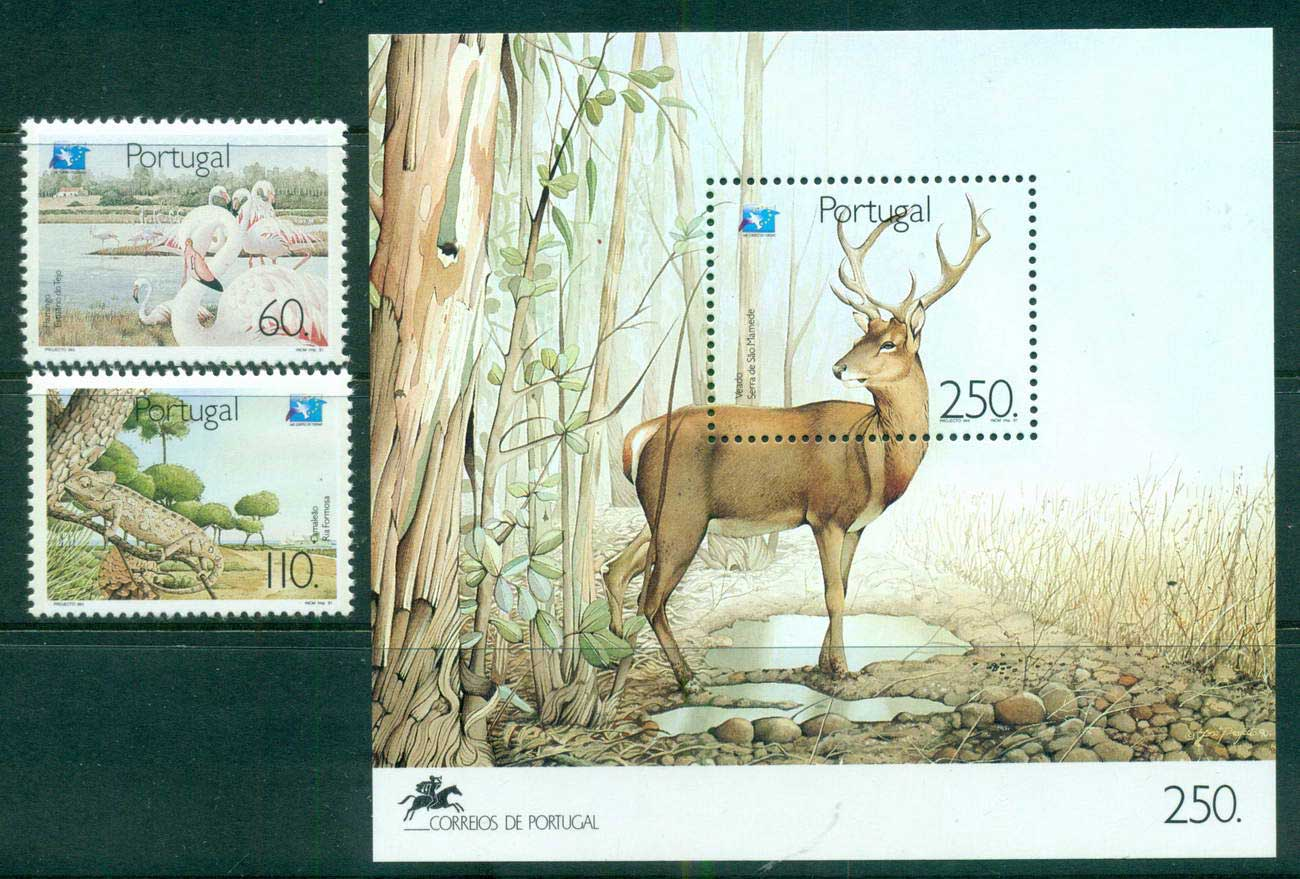 Portugal 1991 European Eco Tourism + MS MUH lot58727