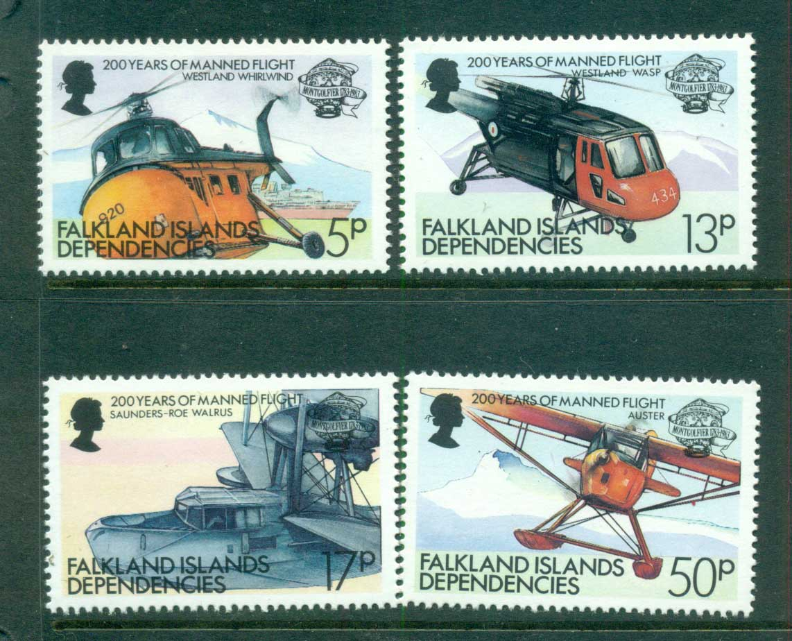 Falkland Is Deps 1983 Manned Flight Anniv. MUH lot58861