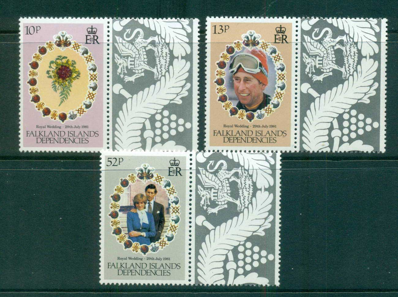 Falkland Is Deps 1981 Diana wedding MUH lot58865