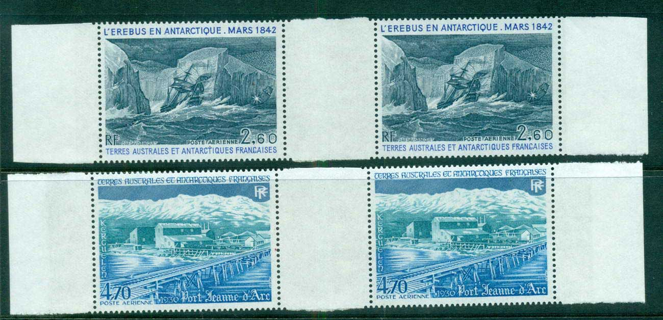 French Antarctic Territory 1984 Erebus & Port Joan of Arc gutter pair MUH lot58911