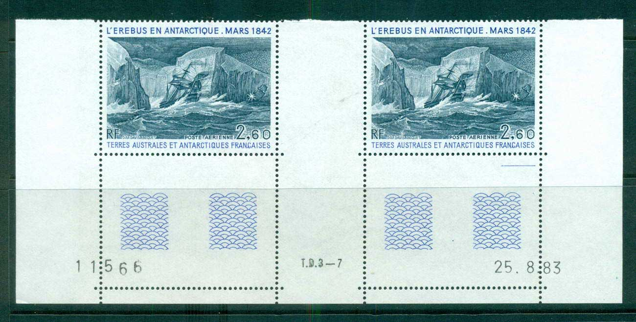 French Antarctic Territory 1984 Erebus gutter pair MUH lot58912