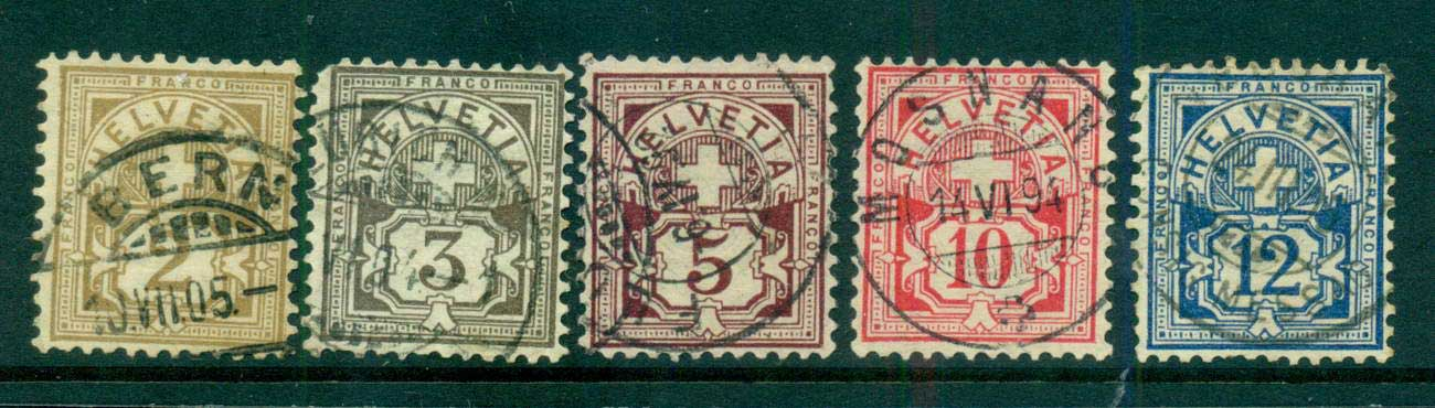 Switzerland 1882 Numerals Asst FU lot59061