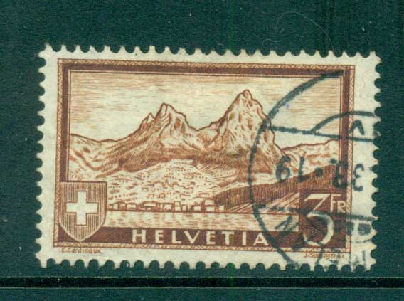 Switzerland 1931 3fr brown The Mythen FU lot59073