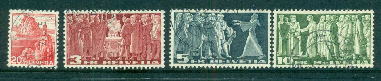 Switzerland 1938, Lugarn, federal Pact, Diet of Stans, Citizen's Voting FU lot59076