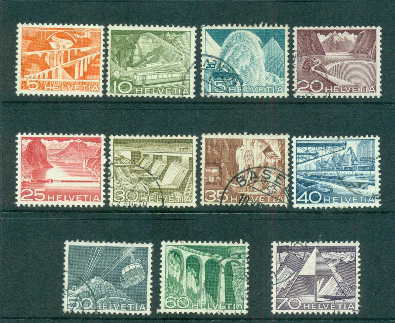 Switzerland 1949 Industries (11/12, no 3c) FU lot59084