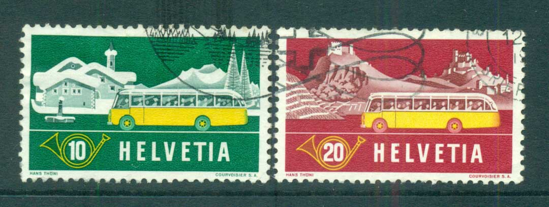 Switzerland 1953 Alpine Post Bus FU lot59086
