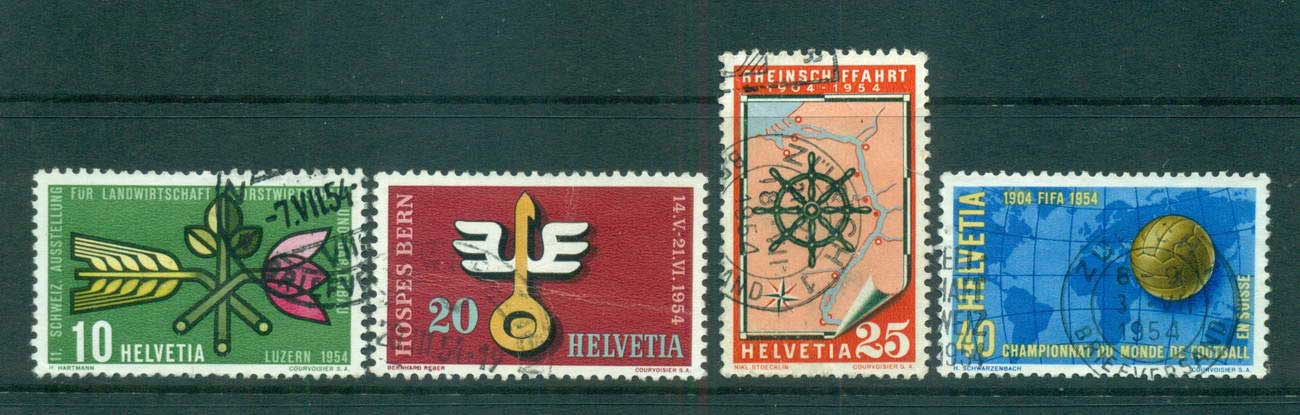 Switzerland 1954 Exhibitions (faults) FU lot59087