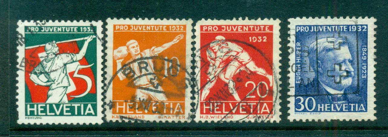 Switzerland 1932 Pro Juvente (faults) FU lot59103