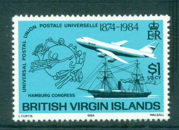 Virgin Is 1984 UPU Congress Hamburg MUH lot59451