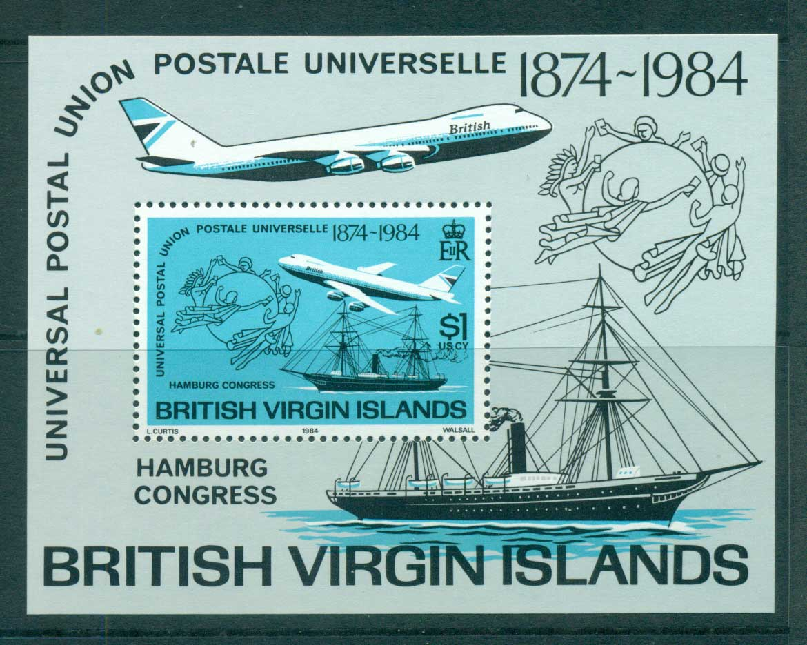 Virgin Is 1984 UPU Congress Hamburg MS MUH lot59452