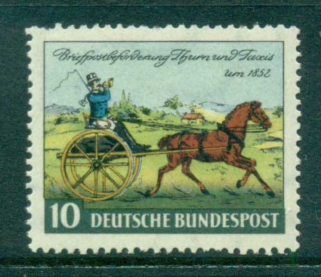 Germany 1952 Thurn & Taxis Stamp cent. MUH lot59548