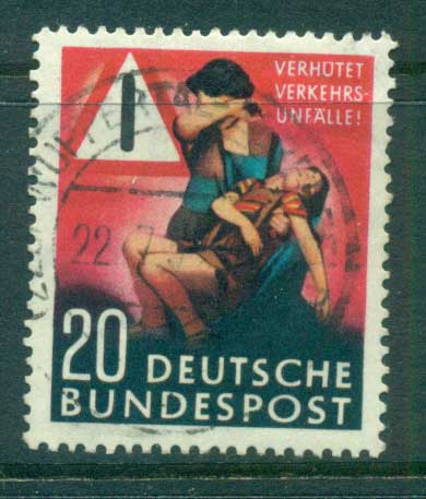 Germany 1953 Prevent Traffic Accidents FU lot59552