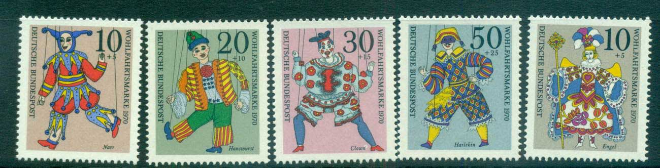Germany 1970 Welfare, Puppets MUH lot59967