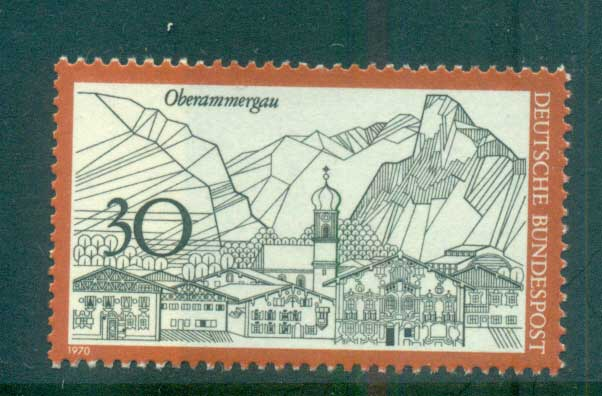 Germany 1970 Towns, Oberammagau MUH lot60061