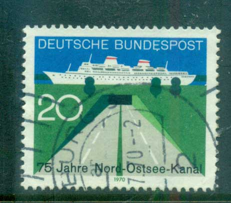 Germany 1970 Baltic Canal FU lot60064
