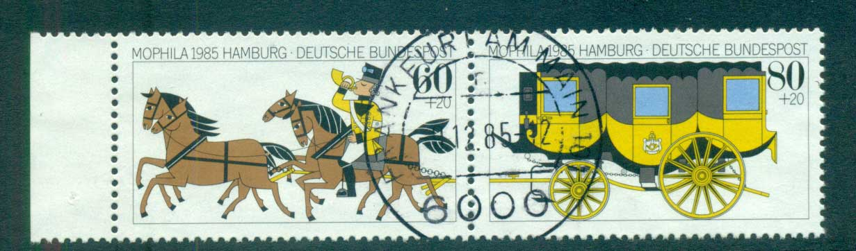 Germany 1985 Welfare, MOPHILA pair FU lot60413