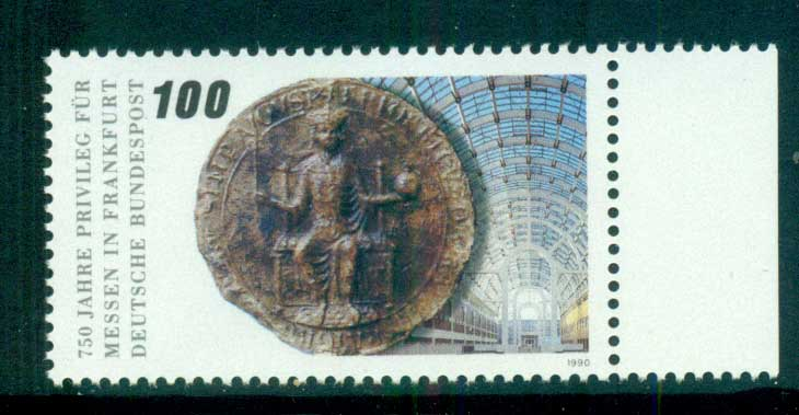 Germany 1990 Granting of priveliges to Frankfurt MUH lot60933