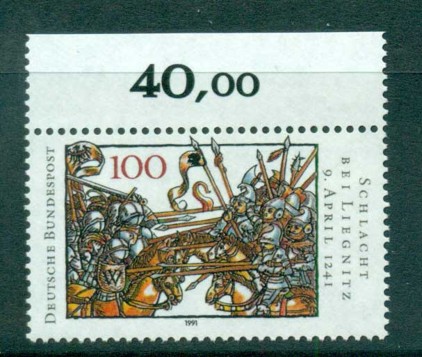 Germany 1991 Battle of Legnica MUH lot60999