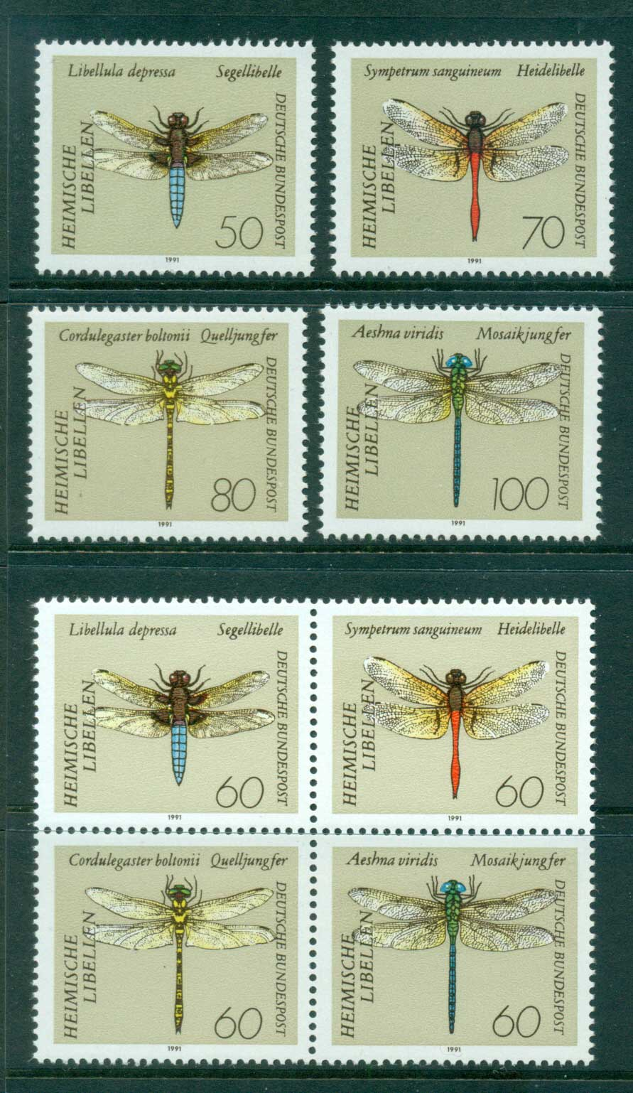 Germany 1991 Dragonflies MUH lot61029