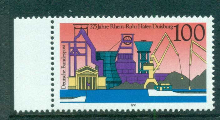 Germany 1991 Rhine-Ruhr Harbour MUH lot61050