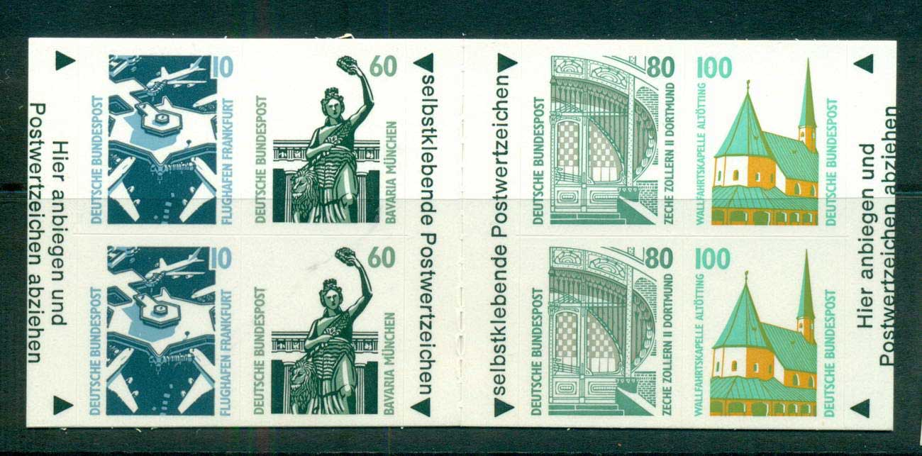Germany 1991 Booklet pane P&S 2ea 10,60,80,100pf MUH lot61062