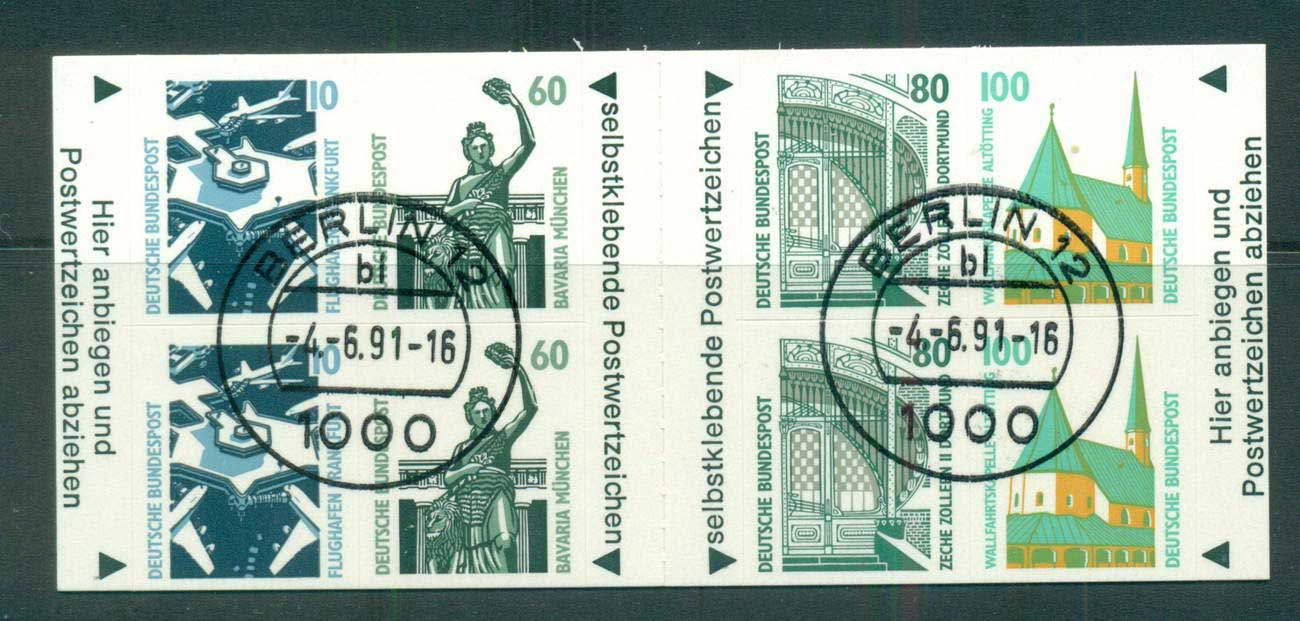 Germany 1991 Booklet pane P&S 2ea 10,60,80,100pf FU lot61063