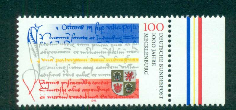 Germany 1995 State of Mecklenburg Anniv. MUH lot63160