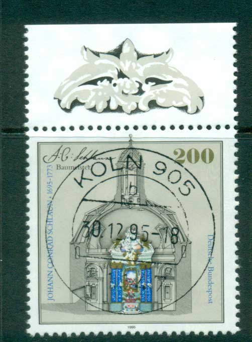 Germany 1995 Johann Conrad Schlaun FU lot63175