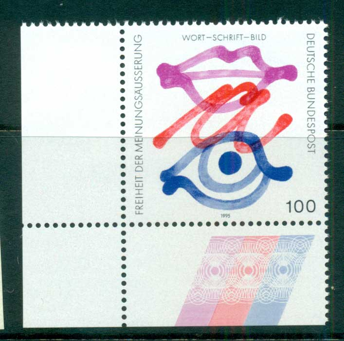 Germany 1995 Freedom of Expression MUH lot63176