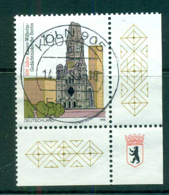 Germany 1995 Kaiser Wilhelm Memorial Church FU lot63197