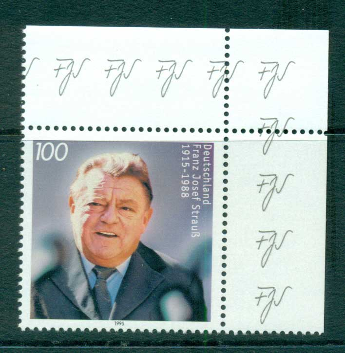 Germany 1995 Franz Hosef Strauss MUH lot63402