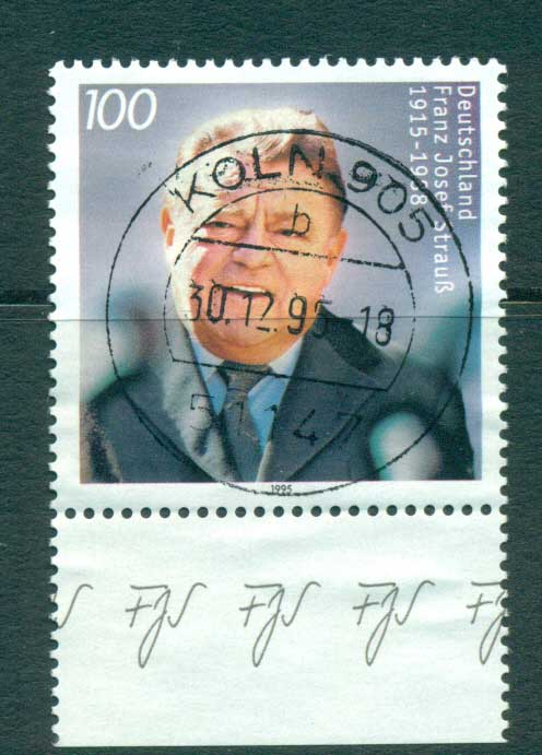Germany 1995 Franz Hosef Strauss FU lot63403