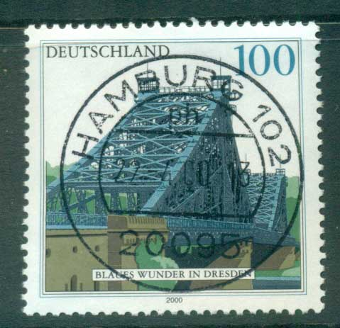 Germany 2000 Blue Wonder Bridge FU lot63729