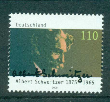 Germany 2000 Albert Schweitzer MUH lot63740