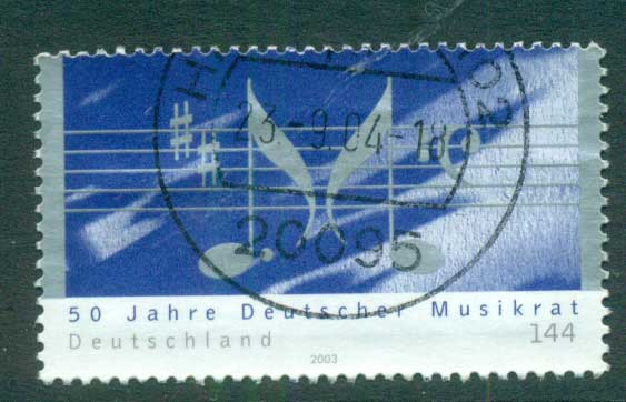 Germany 2003 Music Council FU lot63907