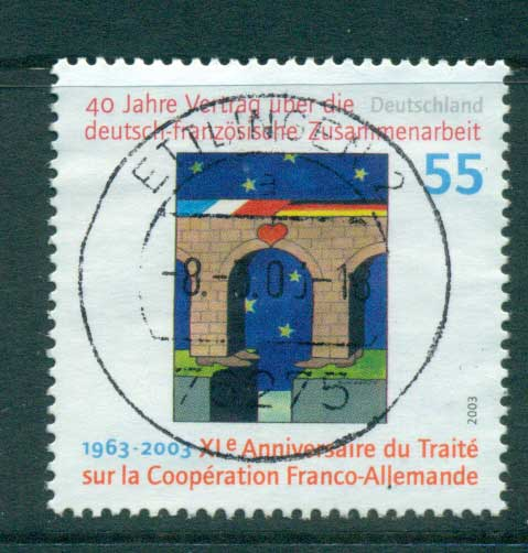 Germany 2003 German-French Cooperation Treaty FU lot63911