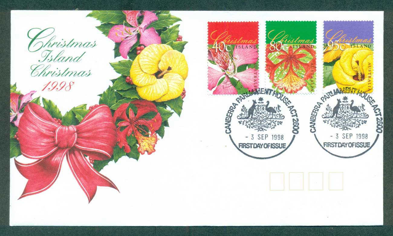 Christmas Is 1998 Xmas Flowers, Parliament House FDC lot62051