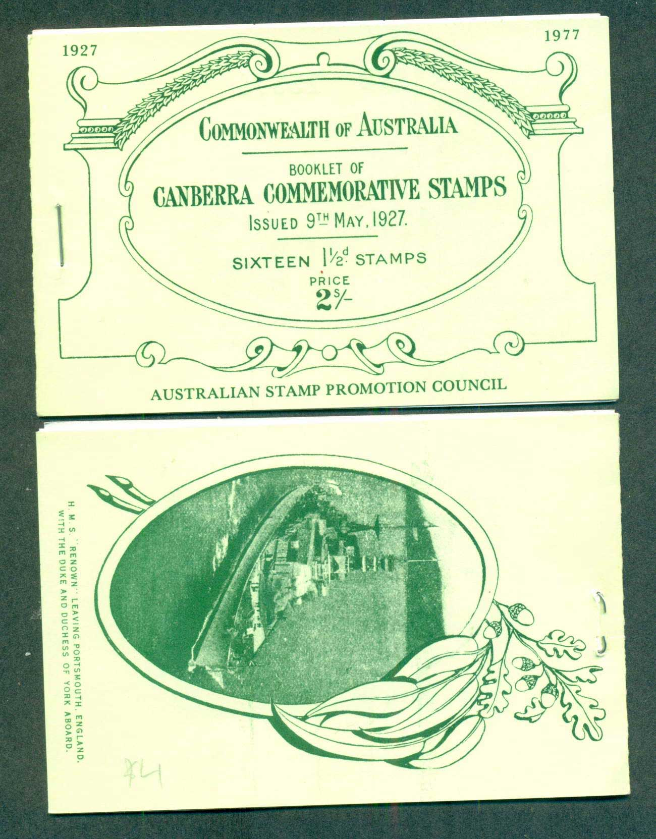 Australia 1977 Parliament House Commemorative Reproduction Booklet lot62076