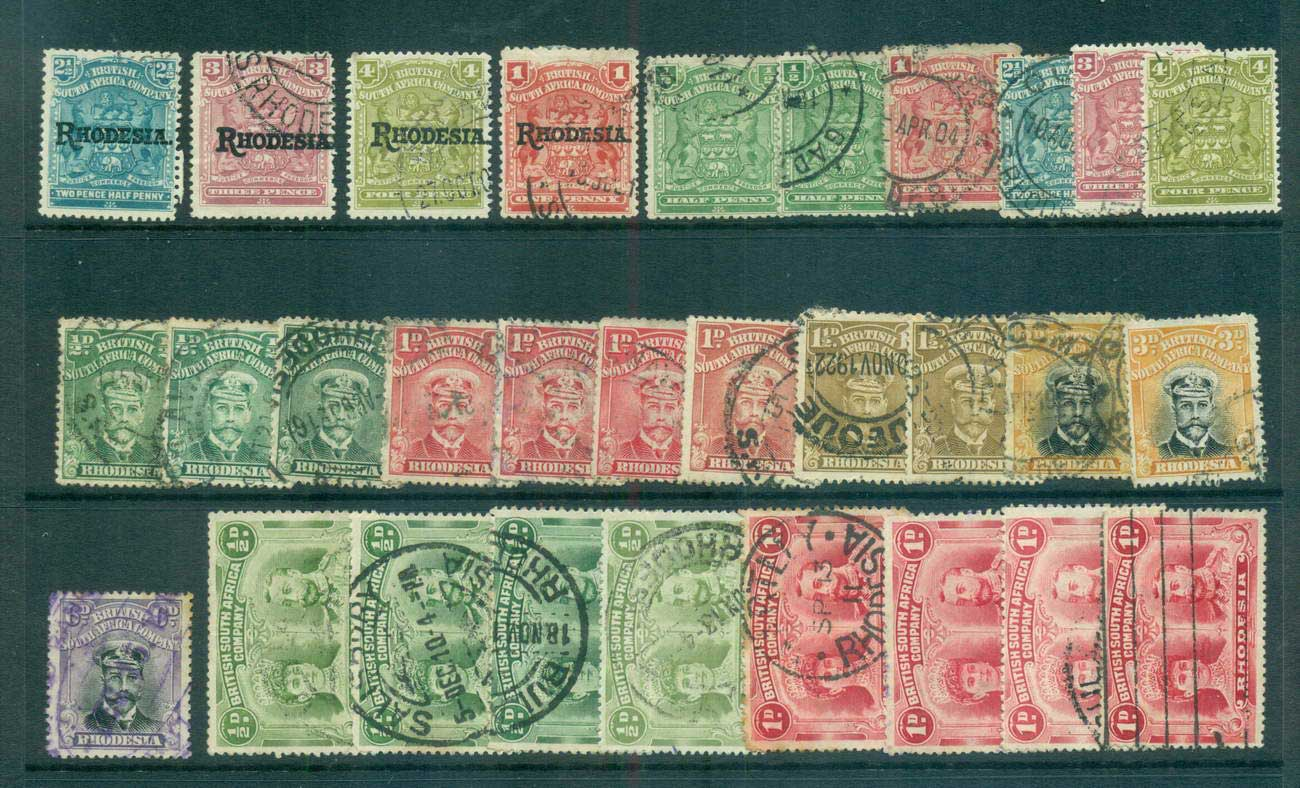 Rhodesia 1909 on Assorted Oddments FU lot61192