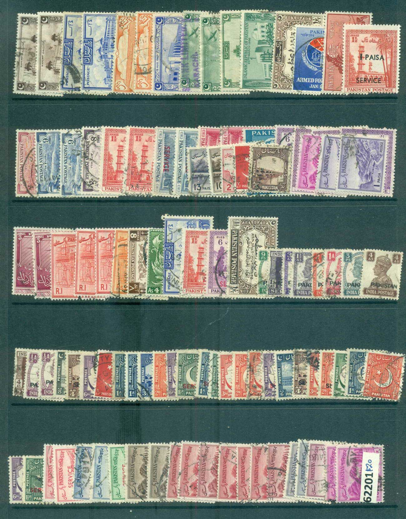 Pakistan 1940s on Assorted Oddments MLH/FU lot61201