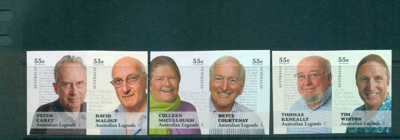 Australia 2010 Australian Legends Written Word P&S pairs MUH lot62891