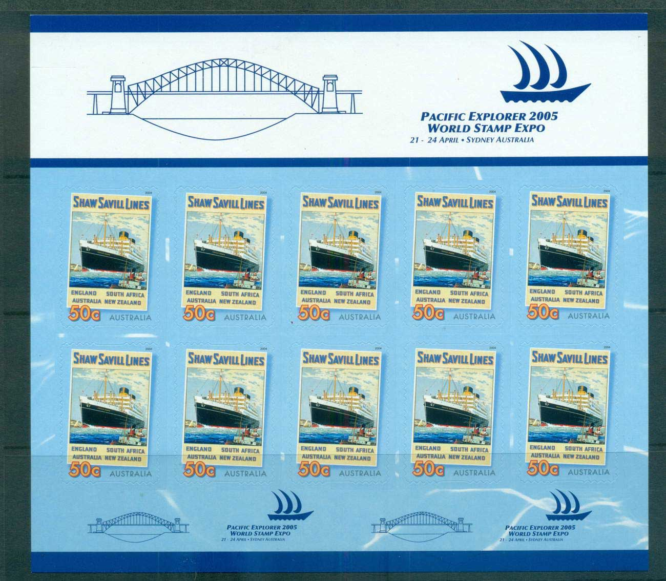 Australia 2005 Bon Voyage pacific Explores P&S Sheetlet MUH lot63121